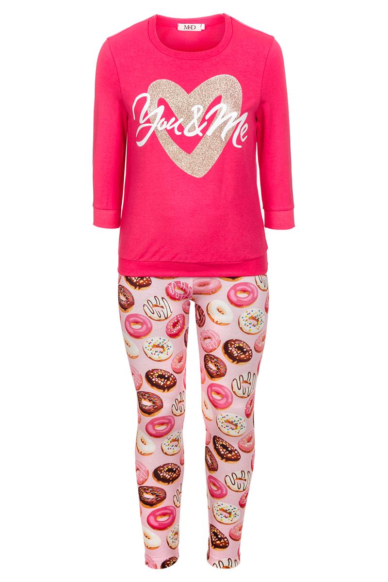 Комплект одежды для девочек M&D, цвет: фуксия. 182200101. Размер 128