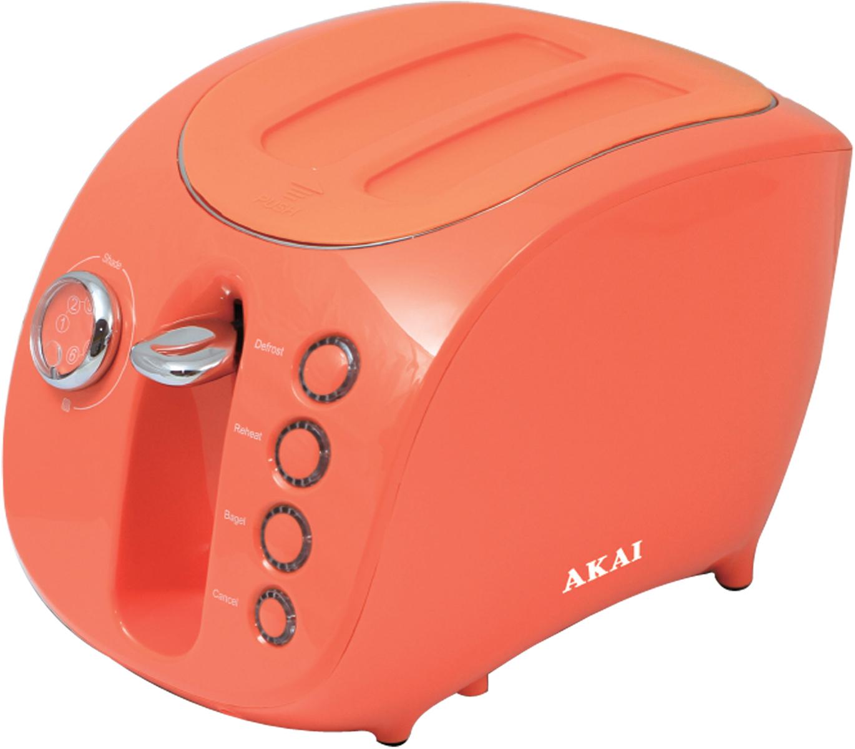 Akai ТР-1112 О, Orange тостер1112ОТостер электрический, мощность: 880 Вт. Теплоизолированный корпус с СИЛИКОНОВОЙ КРЫШКОЙ ДЛЯ ЗАЩИТЫ ОТ ПЫЛИ. Многоступенчатый регулятор степени поджаривания, ТРАФАРЕТ ИЗ НЕРЖАВЕЮЩЕЙ СТАЛИ ДЛЯ ИЗОБРАЖЕНИЯ НА ТОСТАХ В ВИДЕ СМАЙЛА, Функция одностороннего поджаривания, функция размораживания, функция подогрева. Автоматическое центрирование тостов. Световая индикация. Съемный поддон для крошек.