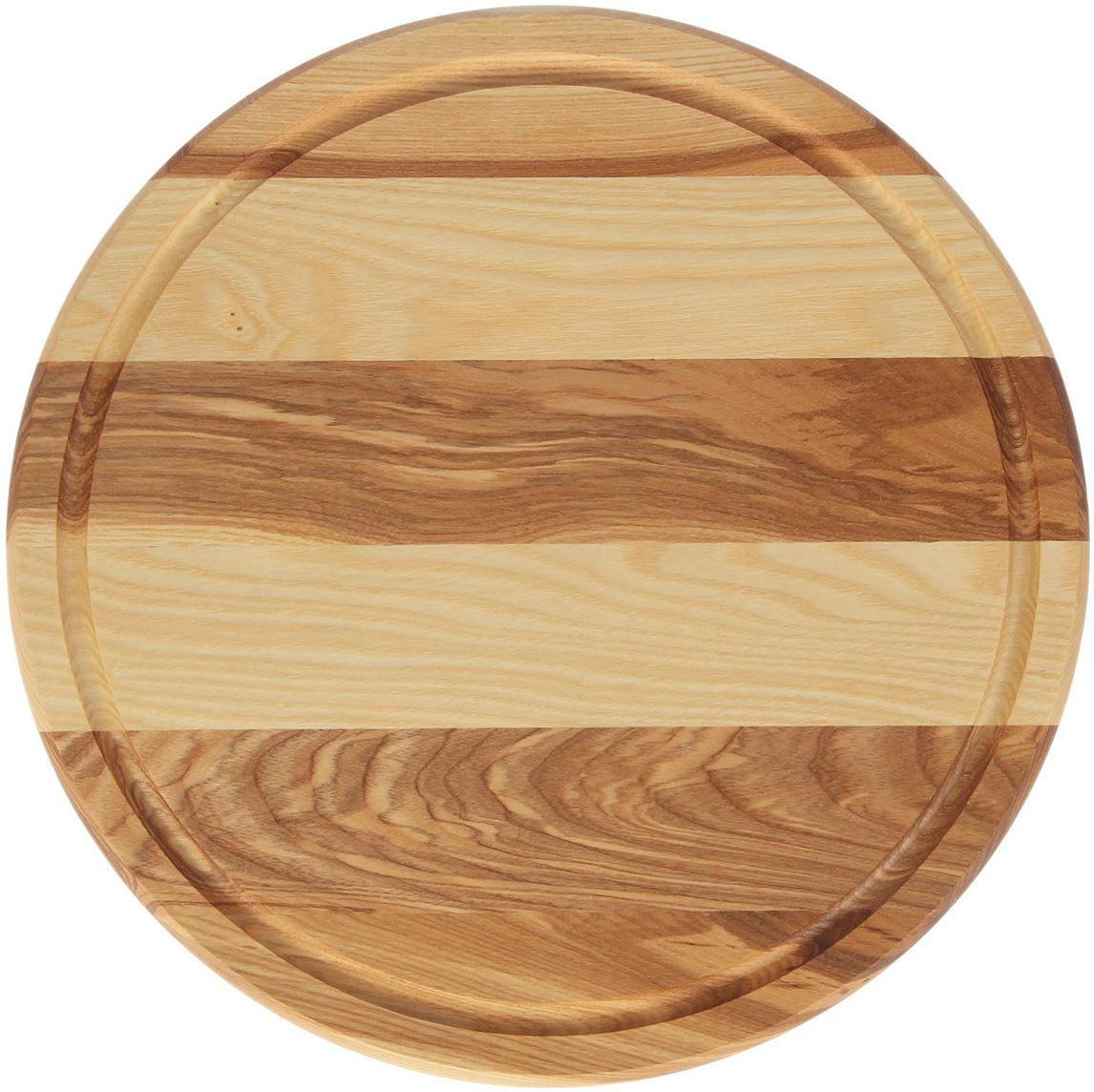 Такую разделочную доску можно использовать и в качестве подноса. Подав  пиццу таким образом, вы удивите своих гостей. Изделие выполнено из древесины твердых пород, которые менее  чувствительны к влаге. Этот материал имеет больший срок службы. Также  такая древесина приспособлена для ежедневной нарезки твердых продуктов. Уход за деревянной разделочной доской: Обработайте перед первым применением. Используйте пищевое  минеральное или льняное масло. Протрите им доску и дайте впитаться в  древесину. Уберите излишки масла сухой тканью. Повторяйте процедуру  каждые 2-3 месяца, так вы предотвратите появление пятен, плесени и  запахов еды. Для сохранения гладкости протирайте изделие наждачной бумагой. Используйте несколько разделочных досок для разного вида пищи. Это  препятствует распространению бактерий сырых продуктов. Тщательно мойте и дезинфицируйте разделочную доску мылом и горячей  водой после каждого использования. После этого высушите. Чтобы избавиться от запаха чеснока или лука, смажьте доску солью с  лимоном. Через пару минут протрите поверхность и промойте ее. Храните доску в сухом месте в вертикальном положении и вдали от  посторонних запахов. Соблюдайте рекомендации, и разделочная доска прослужит вам долгие годы!
