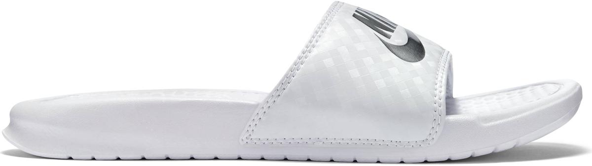 Шлепанцы женские Nike Benassi Just Do It, цвет: белый. 343881-102. Размер 10 (41)