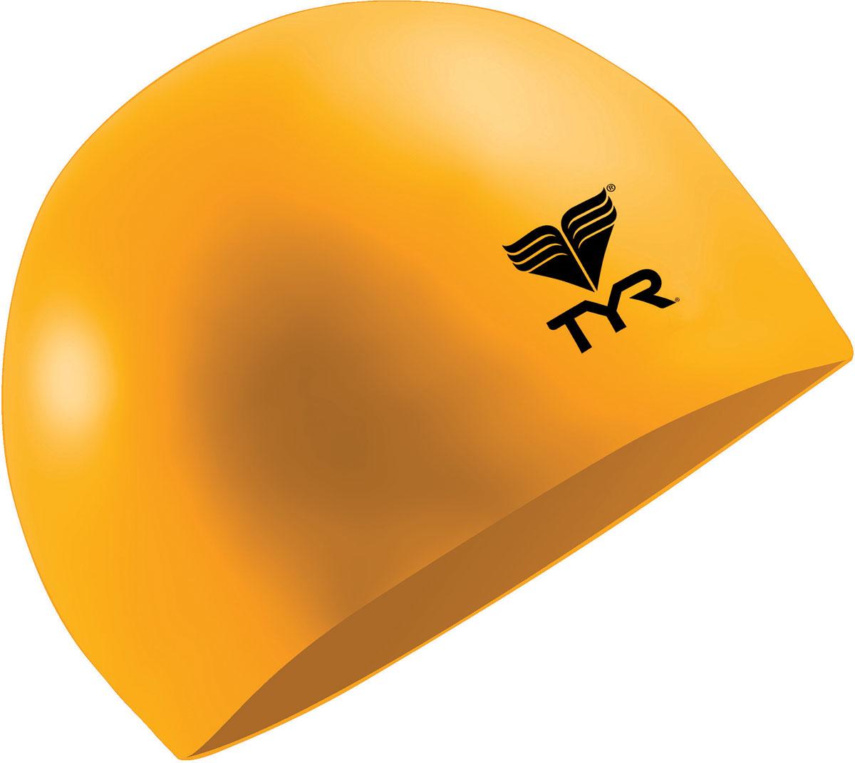 Шапочка плавательная TYR Latex Swim Cap, цвет: оранжевый. Размер универсальный