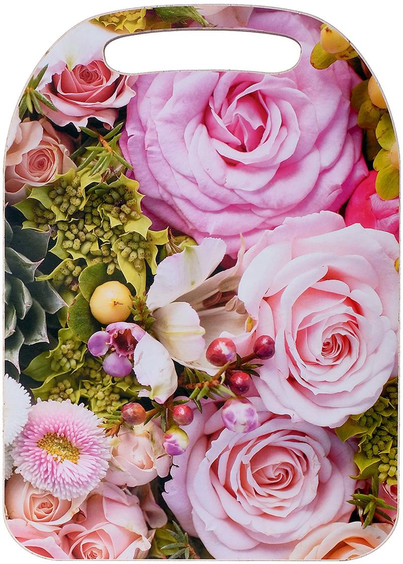 Доска разделочная Avanti-stile Розовые розы, цвет: розовый, зеленый, 29 x 21 x 0,6 см3026236От качества посуды зависит не только вкус еды, но и здоровье человека. Товар, соответствующий российским стандартам качества. Любой хозяйке будет приятно держать его в руках. С нашей посудой и кухонной утварью приготовление еды и сервировка стола превратятся в настоящий праздник.