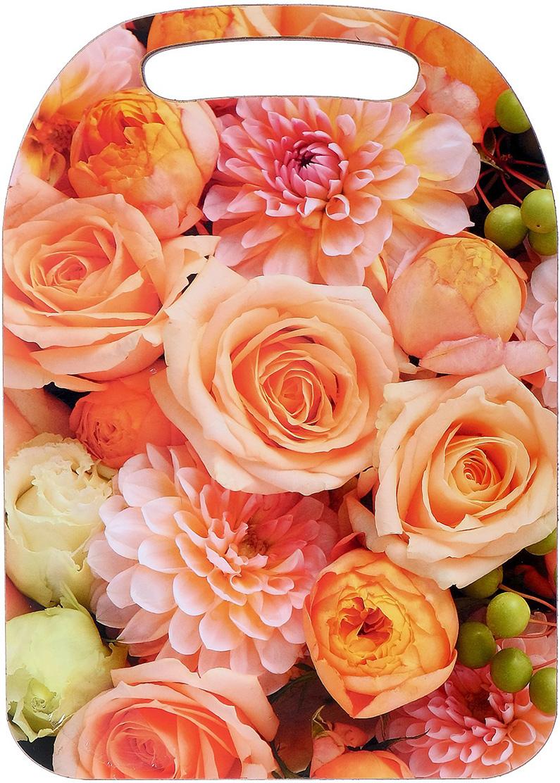 Доска разделочная Avanti-stile Розы, цвет: розовый, оранжевый, 29 x 21 x 0,6 см3026233От качества посуды зависит не только вкус еды, но и здоровье человека. Товар, соответствующий российским стандартам качества. Любой хозяйке будет приятно держать его в руках. С нашей посудой и кухонной утварью приготовление еды и сервировка стола превратятся в настоящий праздник.