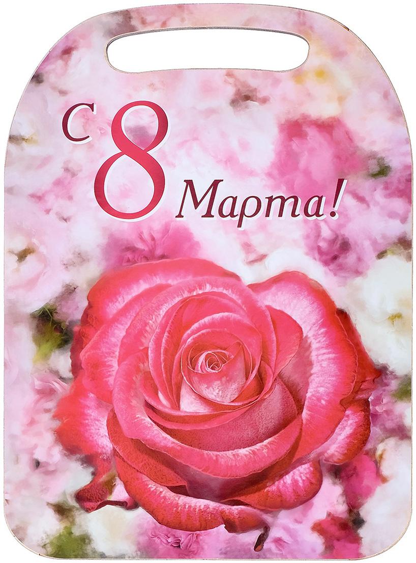 Доска разделочная Avanti-stile С 8 Марта!, цвет: красный, розовый, 29 x 21 x 0,6 см3026250От качества посуды зависит не только вкус еды, но и здоровье человека. Товар, соответствующий российским стандартам качества. Любой хозяйке будет приятно держать его в руках. С нашей посудой и кухонной утварью приготовление еды и сервировка стола превратятся в настоящий праздник.