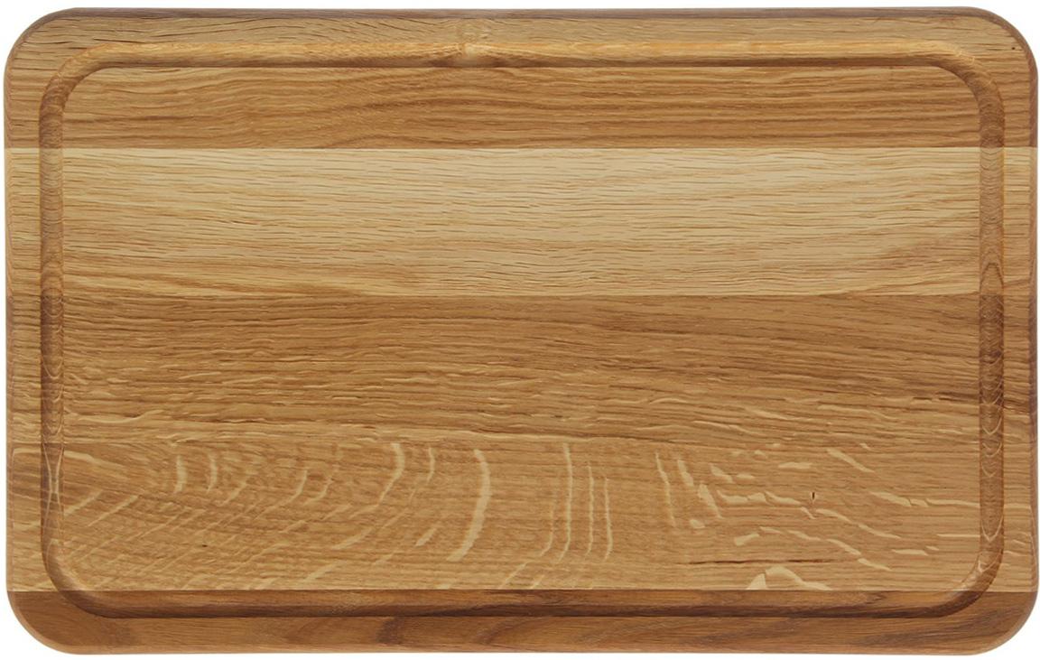 Доска разделочная Доброе дерево, цвет: бежевый, коричневый, 40 x 25 x 2 см1893053Такая разделочная доска подходит не только для нарезки продуктов, её можно использовать и в качестве подноса. Подав сырный набор или колбасную нарезку таким оригинальным образом, вы точно удивите своих гостей.Изделие выполнено из древесины твердых пород, которые менее чувствительны к влаге. Этот материал имеет больший срок службы. Также такая древесина приспособлена для ежедневной нарезки твердых продуктов.Уход за деревянной разделочной доской:Обработайте перед первым применением. Используйте пищевое минеральное или льняное масло. Протрите им доску и дайте впитаться в древесину. Уберите излишки масла сухой тканью. Повторяйте процедуру каждые 2-3 месяца, так вы предотвратите появление пятен, плесени и запахов еды.Для сохранения гладкости протирайте изделие наждачной бумагой.Используйте несколько разделочных досок для разного вида пищи. Это препятствует распространению бактерий сырых продуктов.Тщательно мойте и дезинфицируйте разделочную доску мылом и горячей водой после каждого использования. После этого высушите.Чтобы избавиться от запаха чеснока или лука, смажьте доску солью с лимоном. Через пару минут протрите поверхность и промойте её.Храните доску в сухом месте в вертикальном положении и вдали от посторонних запахов.Соблюдайте рекомендации, и разделочная доска прослужит вам долгие годы!