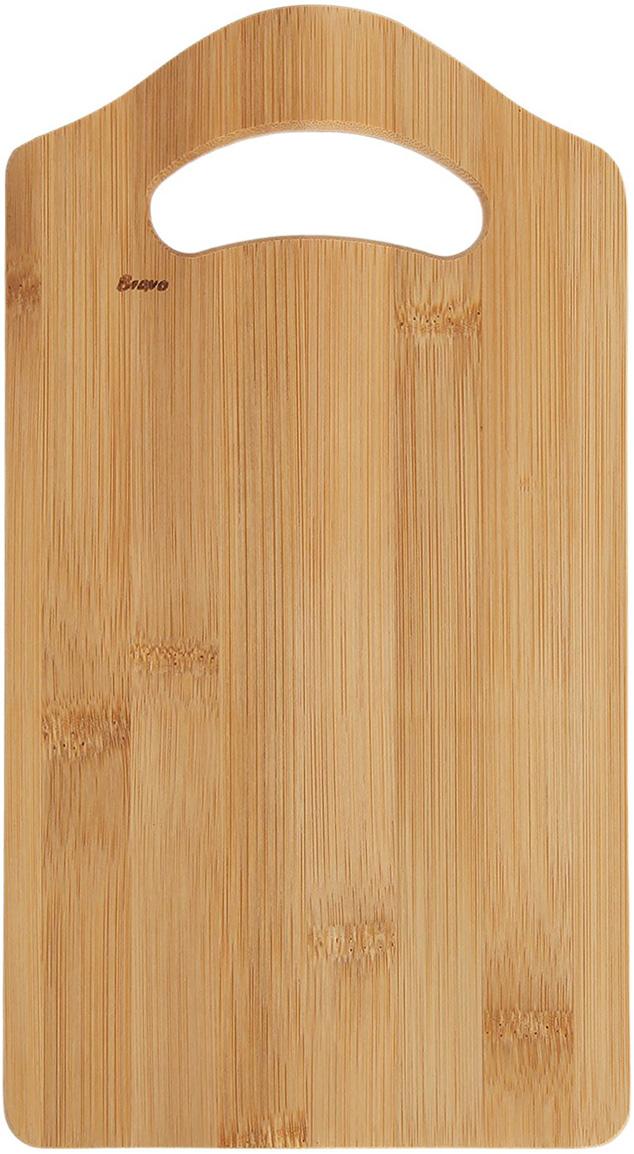 Доска разделочная Bravo, цвет: бежевый, 28 x 15 x 1 см1903252Практичная доска выполнена из натурального бамбука и отлично подойдет дляежедневной обработки мяса, рыбы и овощей. Достоинства: абсолютная безопасность для продуктов питания; долговечность материла; удобство хранения; классический дизайн. Также профессионалами отмечено, что разделочные доски из дереванаиболее дружелюбны к лезвиям металлических ножей. После каждого использования рекомендуется очищать приборы влажнойтряпкой и насухо вытирать.