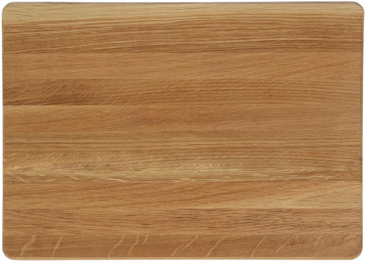 Такая разделочная доска подходит не только для нарезки продуктов, её  можно использовать и в качестве подноса. Подав сырный набор или  колбасную нарезку таким оригинальным образом, вы точно удивите своих  гостей. Изделие выполнено из древесины твердых пород, которые менее  чувствительны к влаге. Этот материал имеет больший срок службы. Также  такая древесина приспособлена для ежедневной нарезки твердых продуктов. Уход за деревянной разделочной доской: Обработайте перед первым применением. Используйте пищевое  минеральное или льняное масло. Протрите им доску и дайте впитаться в  древесину. Уберите излишки масла сухой тканью. Повторяйте процедуру  каждые 2-3 месяца, так вы предотвратите появление пятен, плесени и  запахов еды. Для сохранения гладкости протирайте изделие наждачной бумагой. Используйте несколько разделочных досок для разного вида пищи. Это  препятствует распространению бактерий сырых продуктов. Тщательно мойте и дезинфицируйте разделочную доску мылом и горячей  водой после каждого использования. После этого высушите. Чтобы избавиться от запаха чеснока или лука, смажьте доску солью с  лимоном. Через пару минут протрите поверхность и промойте её. Храните доску в сухом месте в вертикальном положении и вдали от  посторонних запахов. Соблюдайте рекомендации, и разделочная доска прослужит вам долгие годы!