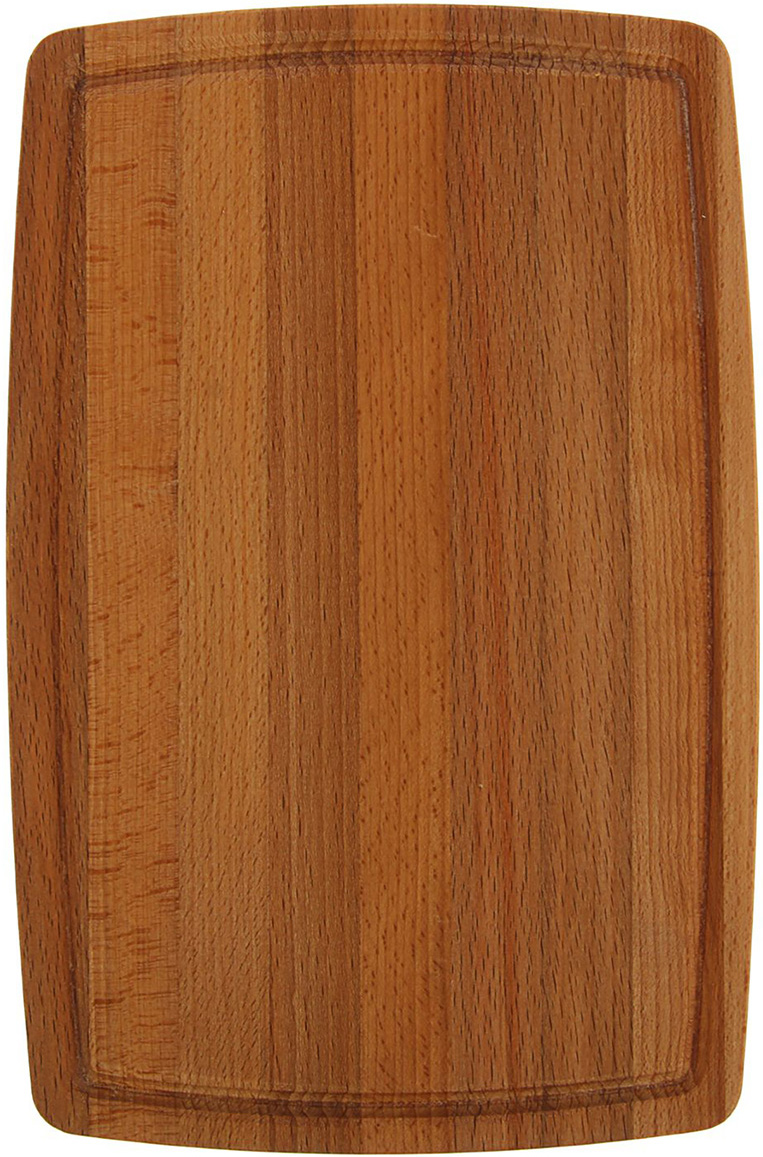 Доска разделочная с кровостоком, цвет: коричневый, 29 x 19 x 1,2 см1814452Эта доска подходит не только для нарезки продуктов, ее можноиспользовать и в качестве подноса. Подав сырный набор или колбаснуюнарезку таким оригинальным образом, вы точно удивите своих гостей. Изделие выполнено из древесины твердых пород, которые менеечувствительны к влаге. Этот материал имеет больший срок службы. Такжетакая древесина приспособлена для ежедневной нарезки твердых продуктов.Уход за деревянной разделочной доской: Обработайте перед первым применением. Используйте пищевоеминеральное или льняное масло. Протрите им доску и дайте впитаться вдревесину. Уберите излишки масла сухой тканью. Повторяйте процедурукаждые 2-3 месяца, так вы предотвратите появление пятен, плесени изапахов еды. Для сохранения гладкости протирайте изделие наждачной бумагой. Используйте несколько разделочных досок для разного вида пищи. Этопрепятствует распространению бактерий сырых продуктов. Тщательно мойте и дезинфицируйте разделочную доску мылом и горячейводой после каждого использования. После этого высушите. Чтобы избавиться от запаха чеснока или лука, смажьте доску солью слимоном. Через пару минут протрите поверхность и промойте ее. Храните доску в сухом месте в вертикальном положении и вдали отпосторонних запахов. Соблюдайте рекомендации, и разделочная доска прослужит вам долгие годы!
