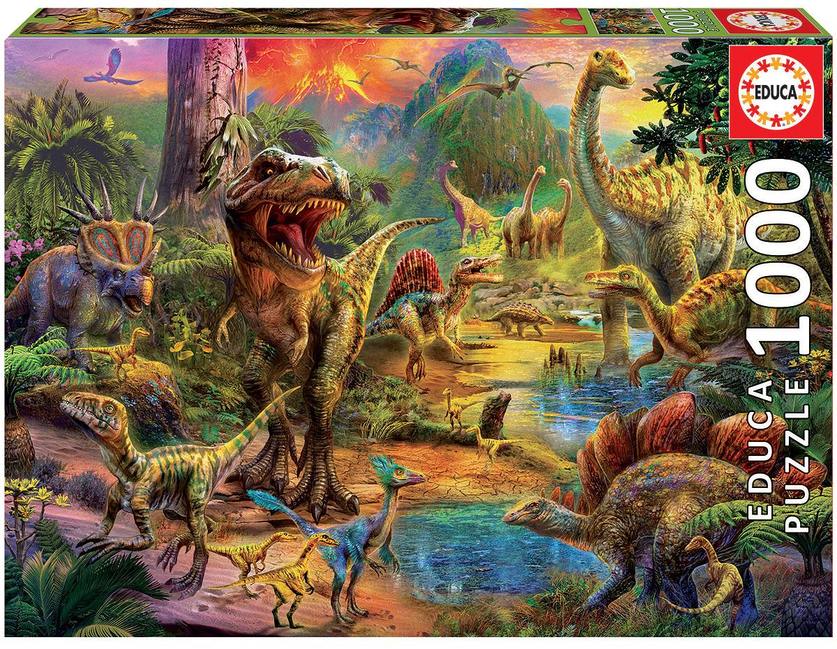 Educa Пазл Земля динозавров