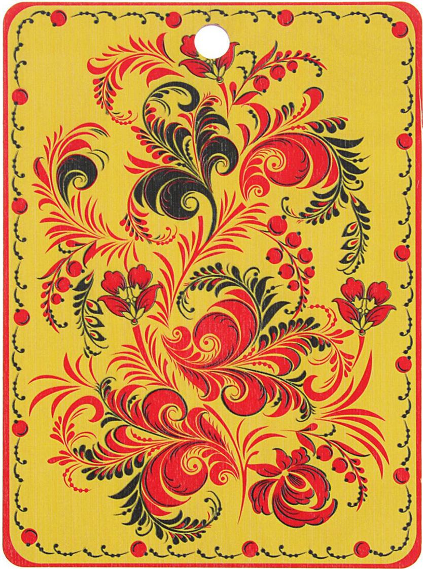 Доска разделочная ТД ДМ Хохлома, цвет: черный, красный, золотистый, 25 x 18 x 0,5 см1770798Сувенир в полном смысле этого слова. И главная его задача - хранитьвоспоминание о месте, где вы побывали, или о том человеке, который подарилданный предмет. Преподнесите эту вещь своему другу, и она станетдостойным украшением его дома. От качества посуды зависит не только вкус еды, но и здоровье человека. Товар,соответствующий российским стандартам качества. Любой хозяйке будетприятно держать его в руках. С нашей посудой и кухонной утварьюприготовление еды и сервировка стола превратятся в настоящий праздник.