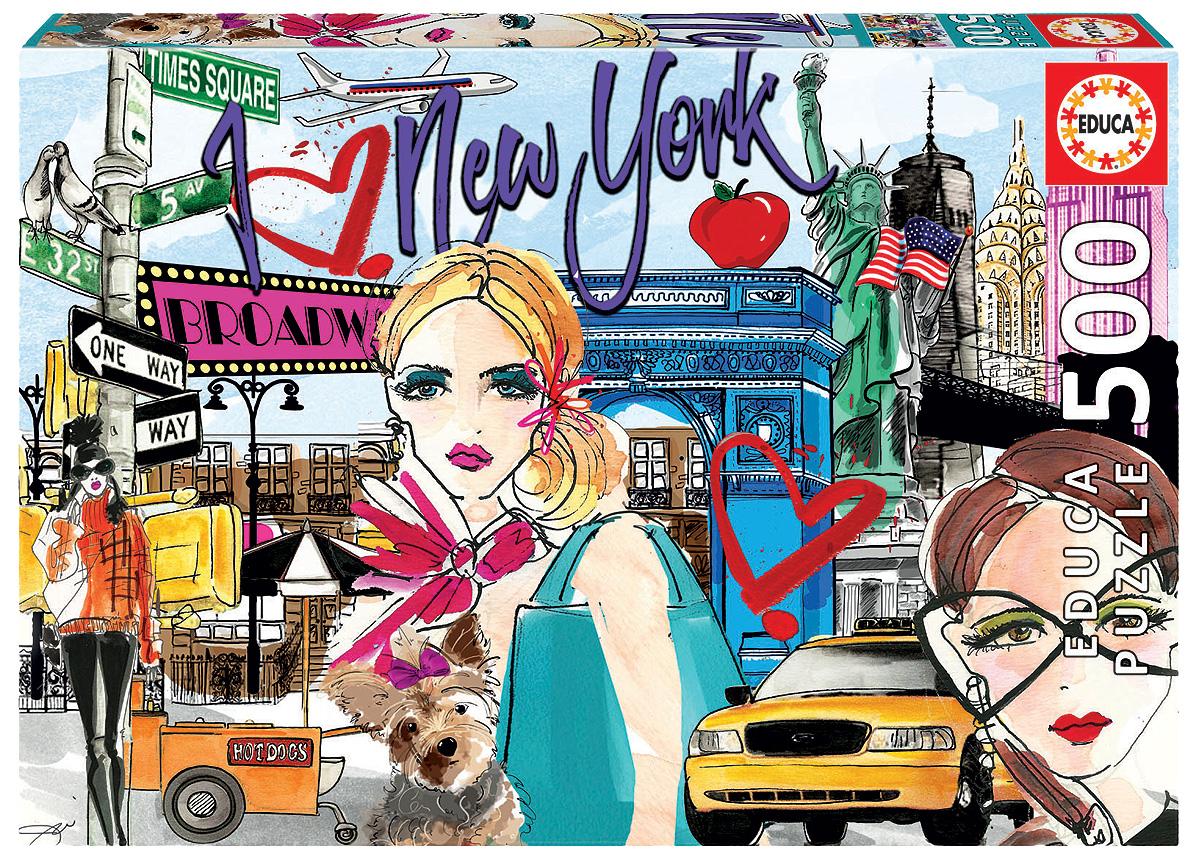 Educa Пазл Возьми меня в Нью-Йорк