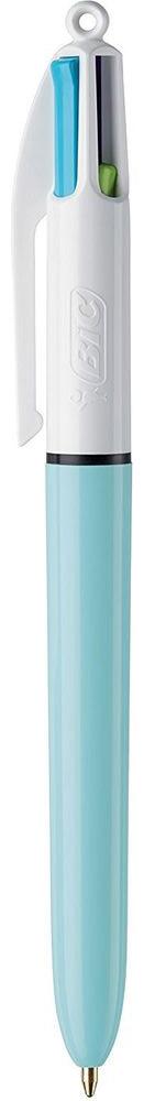 Bic Ручка шариковая Colours Fun 4 цвета цвет корпуса белый голубой пластик абс толщиной 4 мм
