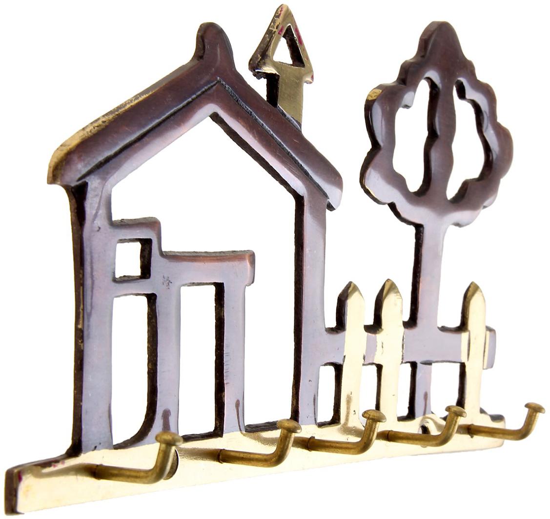 Ключница настенная Дача, цвет: золотой, медь дача и сад