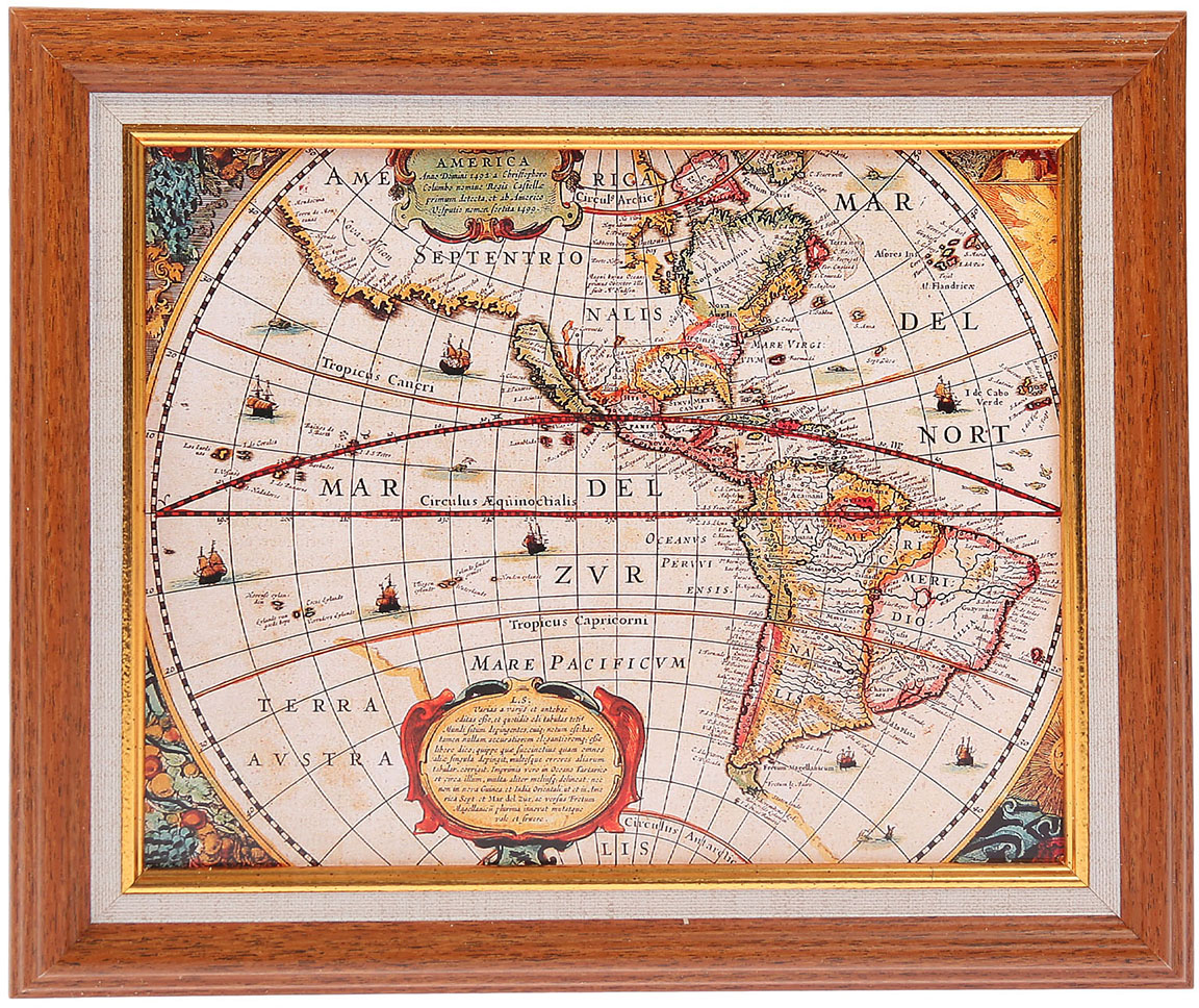 Ключница Мастер Рио Старая карта мира старая карта села работки