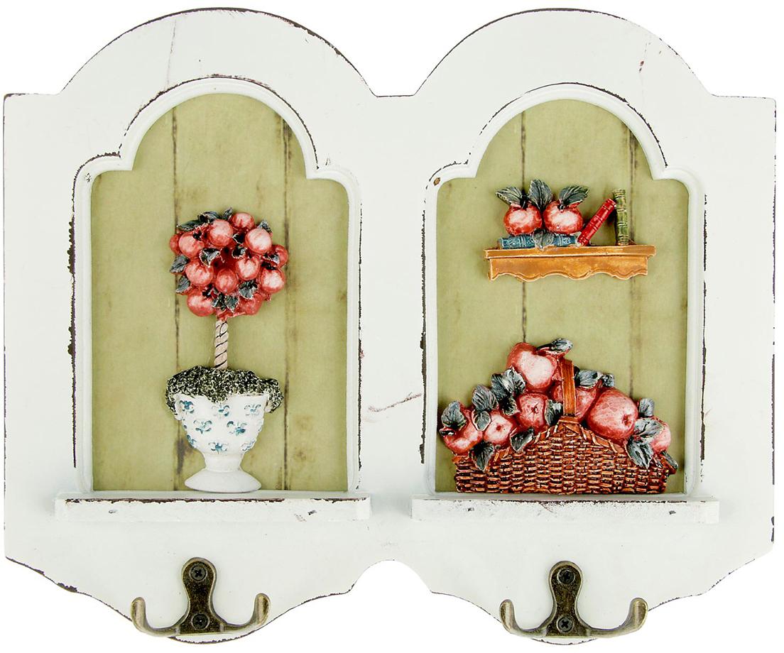 Крючки декоративные Яблочный сад, дерево, 22,5 х 28 см1935548Истинные хозяйки и хранительницы домашнего очага не понаслышке знают, что для того, чтобы дом стал по-настоящему уютным, важно не упускать из виду ни единой мелочи. Такие небольшие детали, как декоративные крючки, с успехом могут стать не только полезным предметом, но и изящным украшением интерьера. Небольшое панно с закрепленными на нем крючками, кажется, буквально проникнуто домашним теплом и уютом. Оно станет замечательным аксессуаром для дома, который не хочется покидать.