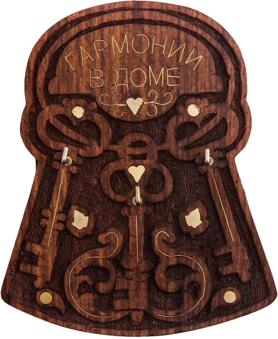 Ключница Ключи Гармонии в доме, 12,2 х 14,6 х 3 см2046214Постоянно теряете ключи, когда куда-то торопитесь? Тогда этот товар — именно то, что вам нужно! Каковы его достоинства? Экономия времени на поиск ключей, ведь вам больше не придётся их терять. Комфортное хранение ещё и других важных мелочей, которые любят пропадать. Порядок и сохранность ваших вещей. Это незаменимый помощник и стильный предмет декора прихожей. Ключница — полезная вещь, которая позволяет поддерживать порядок в доме.