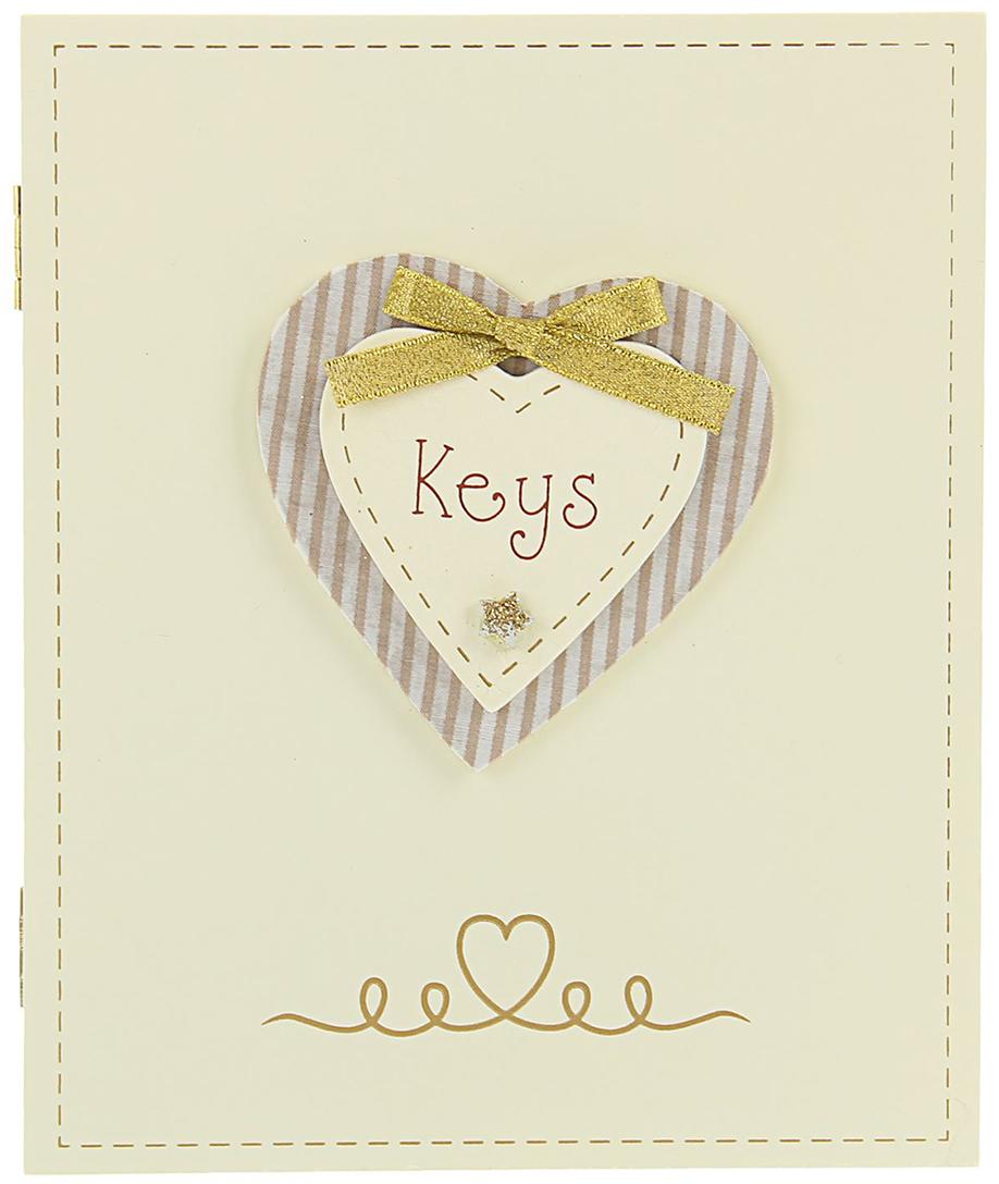 Ключница Ключи от сердца, дерево, 22 х 18 х 6 см2259000Постоянно теряете ключи, когда куда-то торопитесь? Тогда этот товар — именно то, что вам нужно! Каковы его достоинства?Экономия времени на поиск ключей, ведь вам больше не придётся их терять.Комфортное хранение ещё и других важных мелочей, которые любят пропадать.Порядок и сохранность ваших вещей.Это незаменимый помощник и стильный предмет декора прихожей.Ключница — полезная вещь, которая позволяет поддерживать порядок в доме.Ключница — полезная вещь, которая позволяет поддерживать порядок в доме.