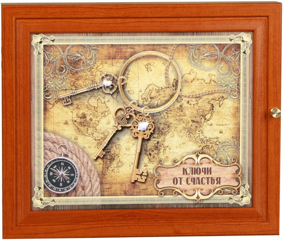 Ключница АГТ-Профиль Ключи от счастья, цвет: коричневый, мультиколор2472028Постоянно теряете ключи, когда куда-то торопитесь? Тогда этот товар — именно то, что вам нужно! Каковы его достоинства? Экономия времени на поиск ключей, ведь вам больше не придётся их терять. Комфортное хранение ещё и других важных мелочей, которые любят пропадать. Порядок и сохранность ваших вещей. Это незаменимый помощник и стильный предмет декора прихожей. Ключница — полезная вещь, которая позволяет поддерживать порядок в доме.