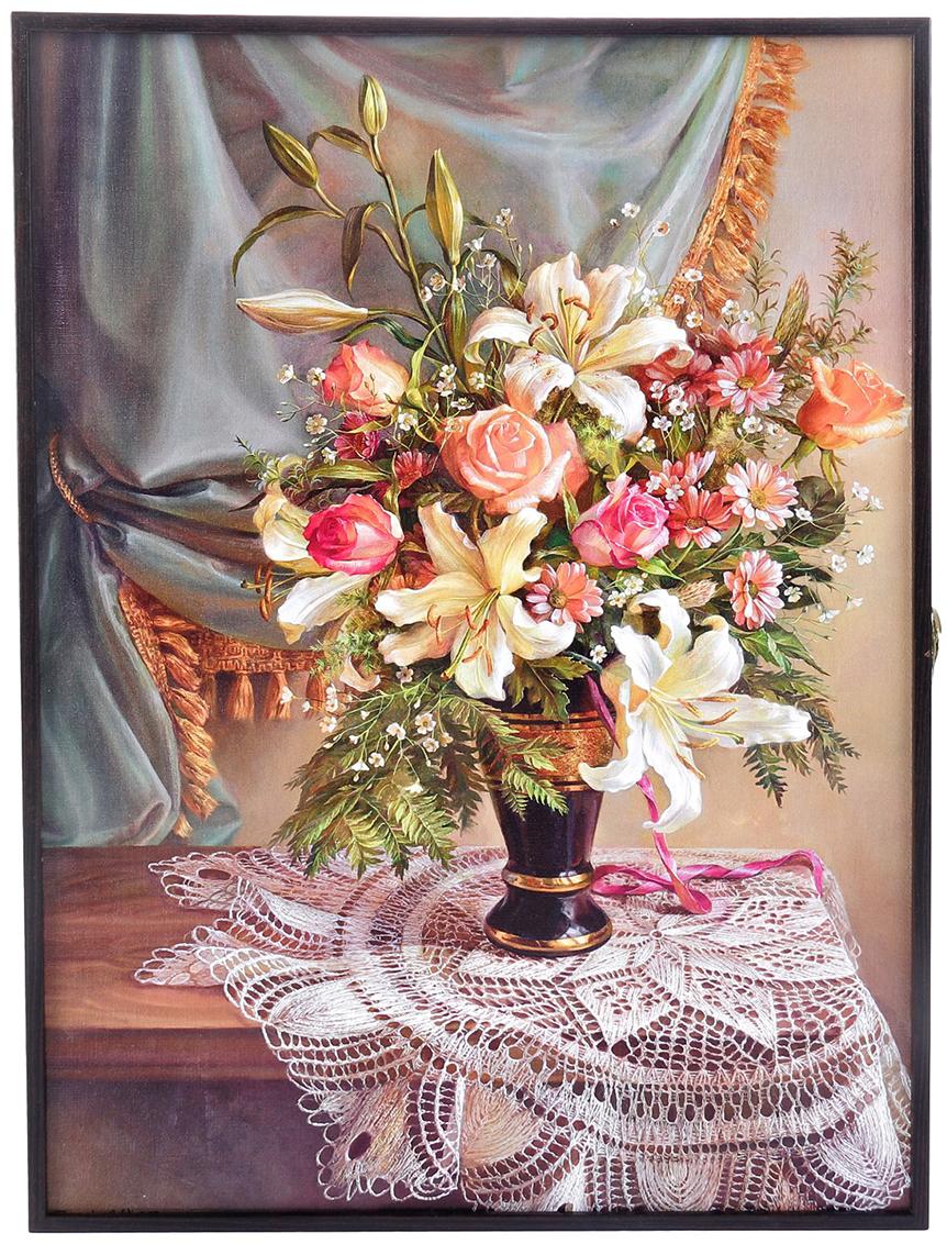 "Ключница АГТ-Профиль ""Цветы"", 41 х 31 х 5 см"