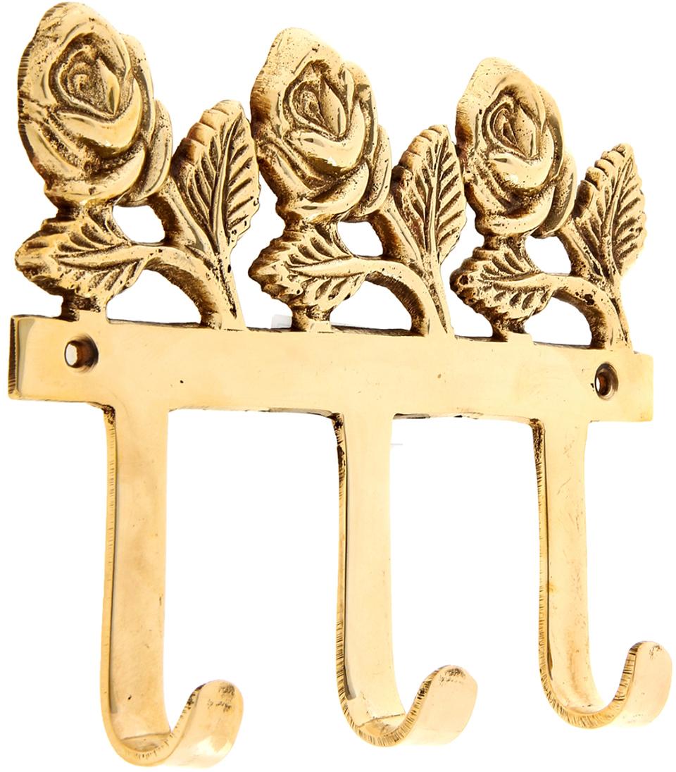 Крючок Розы, цвет: золотой699777Индусы чтят порядок в доме, чтобы всё всегда лежало на своих местах, и в то же время было под рукой. Крючок Розы как раз тот предмет домашнего обихода, который всегда пригодится в хозяйстве. Он выполнен из латуни - материала, который ценится в загадочной Индии своими свойствами: прочностью, ковкостью, твёрдостью и высокой коррозионной стойкостью. Поэтому Вы можете не беспокоиться за сохранность этого удивительно оригинального крючка, если расположите его в ванной комнате или на даче в предбаннике.Такими помощниками хочется завешать все стены, двери и прочее. Необычный дизайн, прочность, многофункциональность и экзотическое происхождение ручной работы, все это подкупает с первого взгляда. С таким аксессуаром все Ваши ключи, полотенца, кружки, ложки-поварёшки и многое другое будут прибраны и находиться на самом видном месте.
