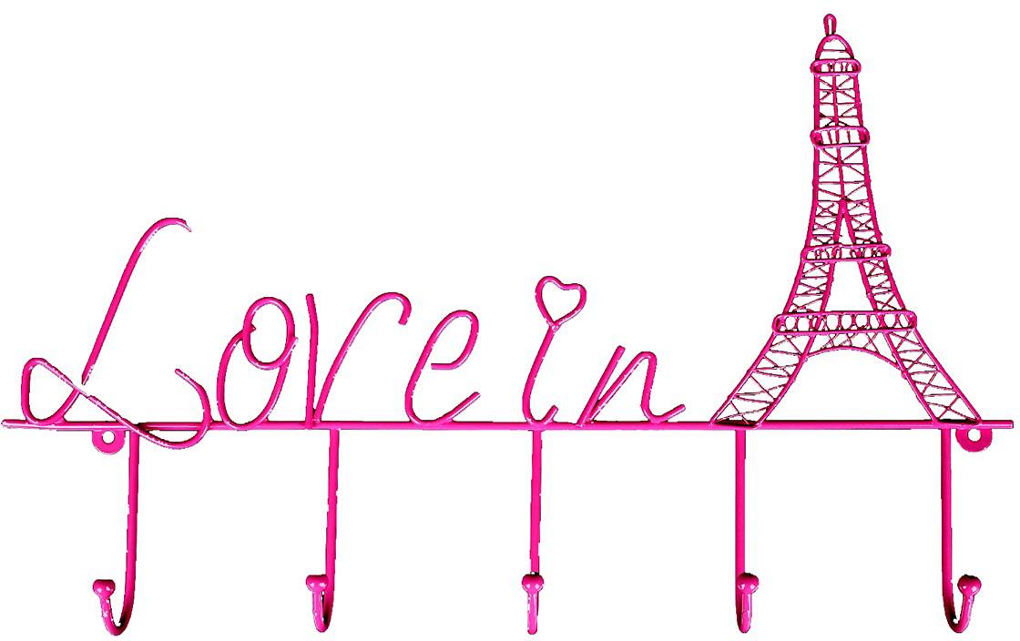 Вешалка Любовь в Париже, декоративная, на 5 крючков855820Французский стиль поистине неповторим: в нем причудливо сочетаются подлинный шик и нарочитая простота. Бывали ли вы в самом сердцеФранции – блистательном Париже – или только собираетесь его посетить – он очаровывает и на расстоянии и невольно заставляет мечтать освежеиспеченных круассанах, звуках уличного аккордеона и корабликах, плывущих по Сене. Стильная Вешалка декоративная на 5 крючков Любовь в Париже, декорированная Эйфелевой башней, позволит привнести в интерьерпарижский шик и неповторимый стиль.