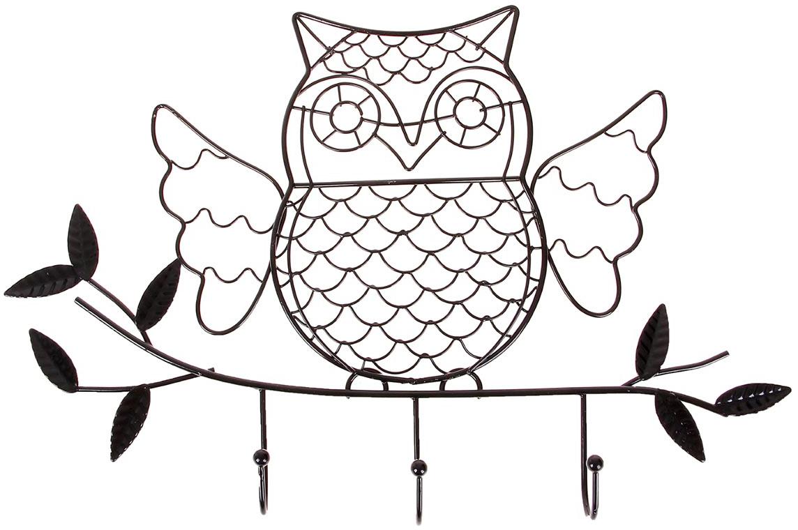 Вешалка декоративная Совушка, 3 крючка, цвет: черный855821Истинные хозяйки и хранительницы домашнего очага не понаслышке знают, что для того, чтобы дом стал по-настоящему уютным, важно не упускать из виду ни единой мелочи. Такие небольшие детали, как декоративные крючки, с успехом могут стать не только полезным предметом, но и изящным украшением интерьера. Небольшое панно с закрепленными на нем крючками, кажется, буквально проникнуто домашним теплом и уютом. Оно станет замечательным аксессуаром для дома, который не хочется покидать.
