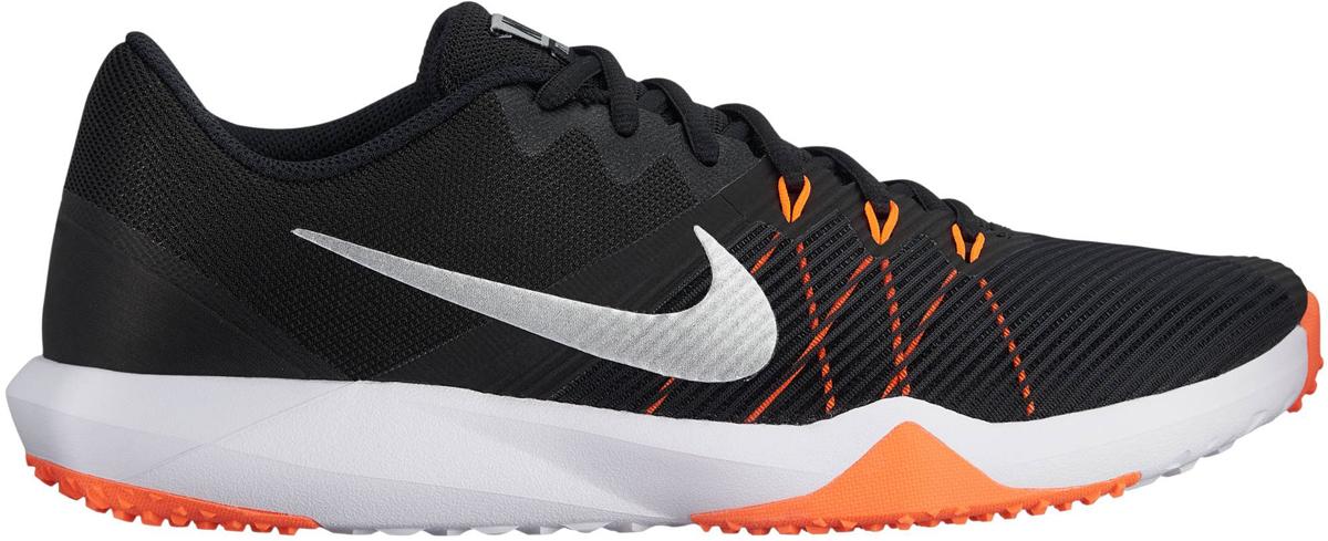 Кроссовки для фитнеса мужские Nike Retaliation TR, цвет: черный. 917707-009. Размер 10 (43)917707-009Мужские кроссовки для тренинга Nike, выполненные из текстиля и пластика, дополнены принтом и на язычке фирменной нашивкой. Верх из сетки обеспечивает легкость и вентиляцию. Продуманное расположение резиновых накладок на подметке обеспечивает превосходное сцепление на разных поверхностях. Классическая шнуровка надежно зафиксирует изделие на ноге. Язычок из многослойной сетки для удобной посадки. Пеноматериал двойной плотности обеспечивает амортизацию без утяжеления. Внешний валик обеспечивает поддержку боковой части. В таких кроссовках вашим ногам будет уютно и комфортно.