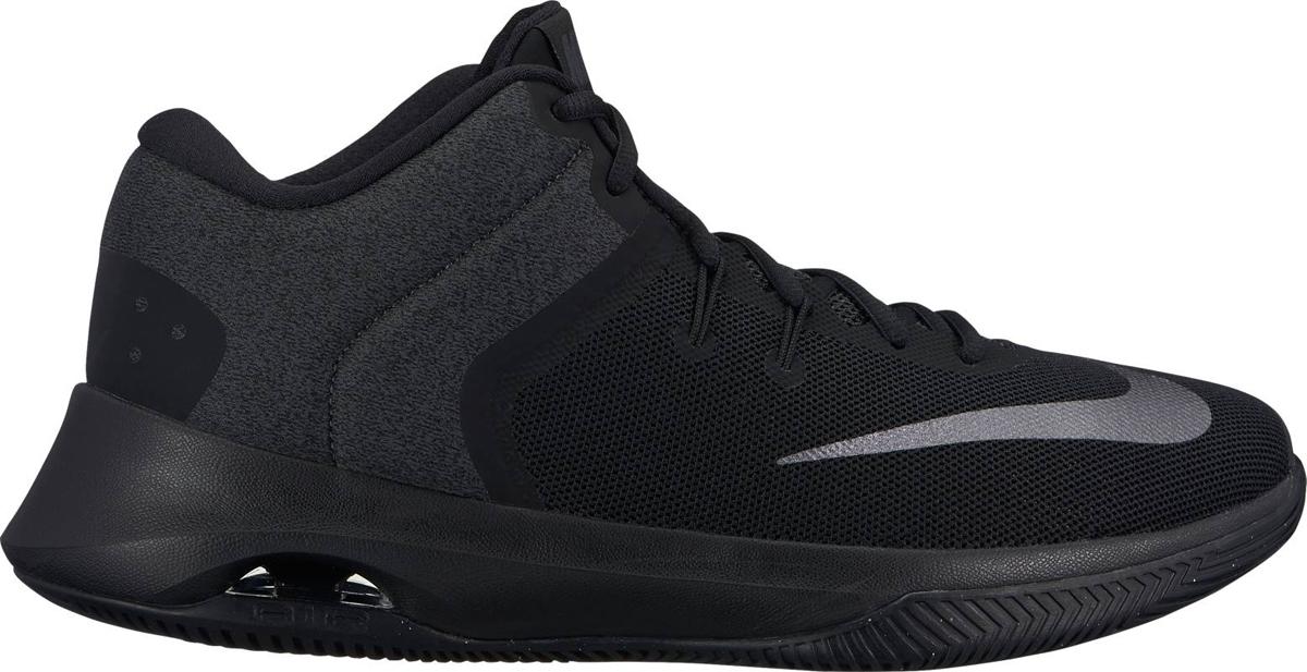 Кроссовки для баскетбола мужские Nike Air Versitile II NBK, цвет: черный. AA3819-002. Размер 10,5 (43,5)AA3819-002Мужские баскетбольные кроссовки Air Versatile II NBK от Nike созданы для универсальных игроков, которым в первую очередь нужны комфорт, фиксация и амортизация. Нити Flywire стабилизируют среднюю часть стопы, а область пятки из первоклассного ультрамягкого текстиля с подкладкой из пеноматериала обеспечивает фиксацию. Видимая вставка Air-Sole обеспечивает легкость и амортизацию. Превосходный текстильный материал создает ощущение невероятной мягкости и комфорта в области пятки. Улучшенная резиновая подметка с зигзагообразным рисунком обеспечивает надежное сцепление.