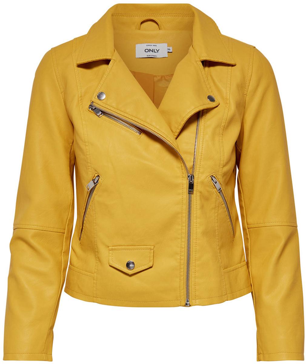 Купить Куртка женская Only, цвет: желтый. 15144751_Yolk Yellow. Размер 38 (44)
