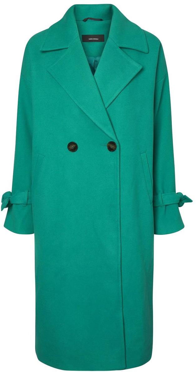 Пальто женское Vero Moda, цвет: зеленый. 10188866_Pepper Green. Размер S (42) брюки женские vero moda цвет черный 10183272 размер s 32 42 32