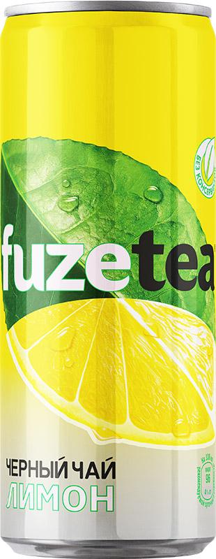 Fuzetea Лимон черный чай, 0,33 л fuzetea клубника малина зеленый чай 1 5 л