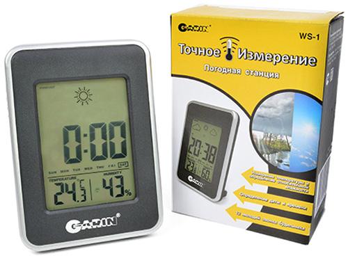 Метеостанция Garin Точное Измерение WS-112569;12569Метеостанция Garin Точное Измерение WS-1 термометр-гигрометр-часы .Garin Точное Измерение WS-1 – это устройство, предназначенное для измерения температуры в помещении, а также определения относительной влажности, определение даты и времени, 12 мелодий звонка будильника, запоминание минимального и максимального значения, установка даты дня рождения, работает от 2 элементов питания AAA.Диапазон измерений: Температура: от -10 °С до + 50 °С.