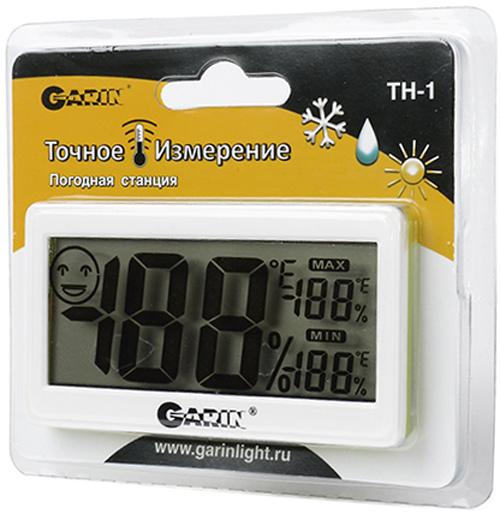 Термометр-гигрометр Garin Точное Измерение TH-112671Термометр-гигрометр Garin Точное Измерение TH-1 термометр-гигрометр. Термометр-гигрометр Garin Точное Измерение TH-1 – это устройство, предназначенное для измерения температуры и относительной влажности в помещении.Определение температуры и относительной влажности в помещении.Шкала температур: по Цельсию (°C) или по Фаренгейту (°F).Отображение минимального и максимального значения температуры и относительной влажности.Отображение параметров комфортной температуры и относительной влажности.