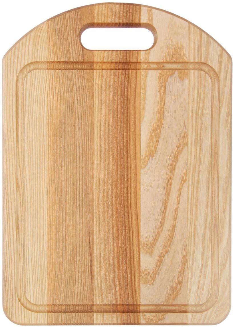 Доска разделочная Доброе дерево, с выемкой, цвет: бежевый, 35 x 25 x 2 см1893066Такая разделочная доска подходит не только для нарезки продуктов, её можно использовать и в качестве подноса. Подав сырный набор или колбасную нарезку таким оригинальным образом, вы точно удивите своих гостей.Изделие выполнено из древесины твердых пород, которые менее чувствительны к влаге. Этот материал имеет больший срок службы. Также такая древесина приспособлена для ежедневной нарезки твердых продуктов.Уход за деревянной разделочной доской:Обработайте перед первым применением. Используйте пищевое минеральное или льняное масло. Протрите им доску и дайте впитаться в древесину. Уберите излишки масла сухой тканью. Повторяйте процедуру каждые 2-3 месяца, так вы предотвратите появление пятен, плесени и запахов еды.Для сохранения гладкости протирайте изделие наждачной бумагой.Используйте несколько разделочных досок для разного вида пищи. Это препятствует распространению бактерий сырых продуктов.Тщательно мойте и дезинфицируйте разделочную доску мылом и горячей водой после каждого использования. После этого высушите.Чтобы избавиться от запаха чеснока или лука, смажьте доску солью с лимоном. Через пару минут протрите поверхность и промойте её.Храните доску в сухом месте в вертикальном положении и вдали от посторонних запахов.Соблюдайте рекомендации, и разделочная доска прослужит вам долгие годы!