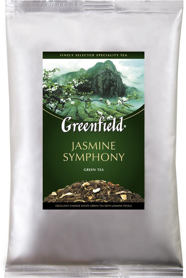 Greenfield Jasmine Symphony зеленый листовой чай, 250 г0979-15Традиции изготовления жасминового чая, отшлифованные в течение столетий, воплощаются в утонченной гамме Greenfield Jasmine Symphony. Чайные листья, выращенные на знаменитых плантациях Гуанси, выдерживают с лепестками жасмина, чтобы они вобрали всю полноту нежного цветочного аромата и открыли изысканные вкусовые оттенки в композиции Greenfield Jasmine Symphony. Уважаемые клиенты! Обращаем ваше внимание на то, что упаковка может иметь несколько видов дизайна. Поставка осуществляется в зависимости от наличия на складе. Всё о чае: сорта, факты, советы по выбору и употреблению. Статья OZON Гид