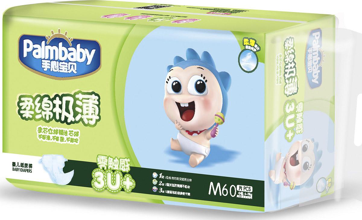 Palmbaby Подгузники детские M 6-11 кг 60 шт -  Подгузники и пеленки