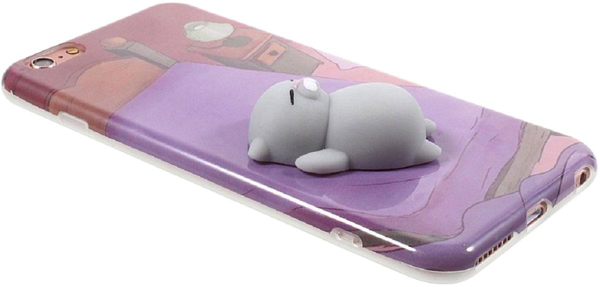 Fidget Go Кот на диване чехол-антистресс для iPhone 6/6S2212345678205Чехол Fidget Go Кот на диване имеет новый дизайн с 3D мягким силиконовым котом. Вы можете помассировать ему животик, погладить голову, оттянуть ушко и получить потрясающее чувство от этой забавной и восхитительной игрушки-антистресс. Игрушка сделана из мягкого, приятного, прочного силикона. Точный вырез для камеры, динамика и управляемых кнопок для легкого доступа.