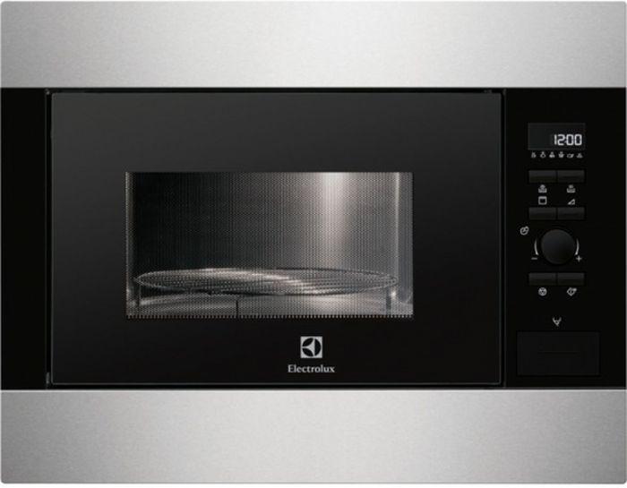 Electrolux EMS 26204OX, Silver СВЧ-печь встраиваемаяEMS26204OXгриль, объем 26 л, мощность 900 Вт, электронное управление, автоматические режимы: разморозка, приготовление, ШxВxГ: 59.4x45.9x41.7 cм, цвет: серебристый