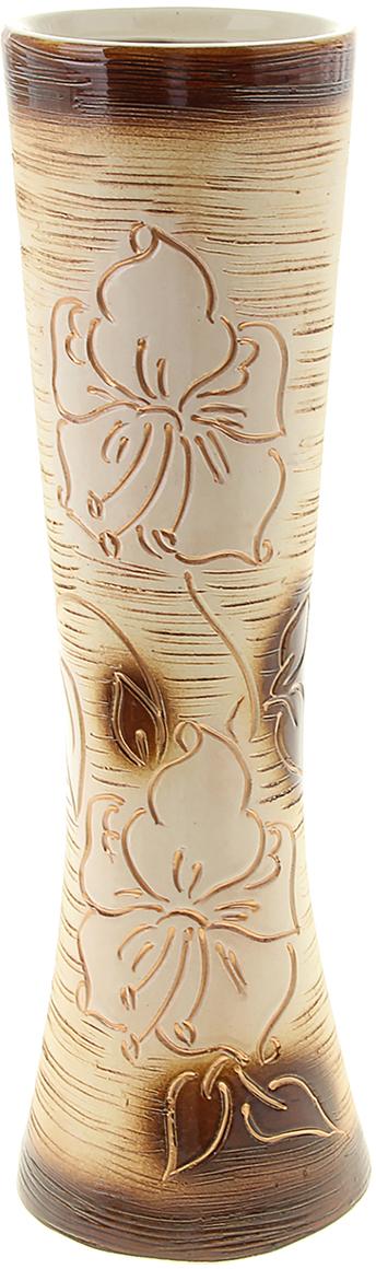 Ваза Керамика ручной работы Марика-Росса, цвет: коричневый, большая. 10040761004076Ваза Керамика ручной работы - сувенир в полном смысле этого слова. И главная его задача - хранить воспоминание о месте, где вы побывали, или о том человеке, который подарил данный предмет. Преподнесите эту вещь своему другу, и она станет достойным украшением его дома. Каждому хозяину периодически приходит мысль обновить свою квартиру, сделать ремонт, перестановку или кардинально поменять внешний вид каждой комнаты. Ваза - привлекательная деталь, которая поможет воплотить вашу интерьерную идею, создать неповторимую атмосферу в вашем доме. Окружите себя приятными мелочами, пусть они радуют глаз и дарят гармонию.