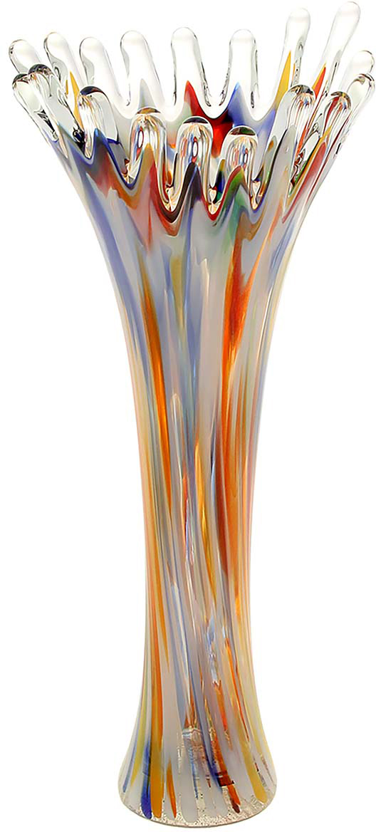 Ваза Коралл, цвет: оранжевый, 38 см1025279Ваза - не просто сосуд для букета, а украшение убранства. Поставьте в неё цветы или декоративные веточки, и эффектный интерьерный акцент готов! Стеклянный аксессуар добавит помещению лёгкости. Ваза Коралл разноцветная преобразит пространство и как самостоятельный элемент декора. Наполните интерьер уютом! Каждая ваза выдувается мастером. Второй точно такой же не встретить. А случайный пузырёк воздуха или застывшая стеклянная капелька на горлышке лишь подчёркивают её уникальность.