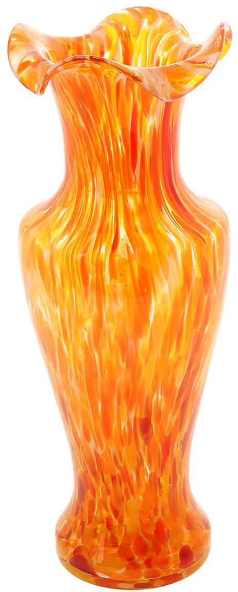 Ваза Античность, цвет: оранжевый, 30 см1025302Ваза - не просто сосуд для букета, а украшение убранства. Поставьте в неё цветы или декоративные веточки, и эффектный интерьерный акцент готов! Стеклянный аксессуар добавит помещению лёгкости. Ваза Античность красная преобразит пространство и как самостоятельный элемент декора. Наполните интерьер уютом! Каждая ваза выдувается мастером. Второй точно такой же не встретить. А случайный пузырёк воздуха или застывшая стеклянная капелька на горлышке лишь подчёркивают её уникальность.