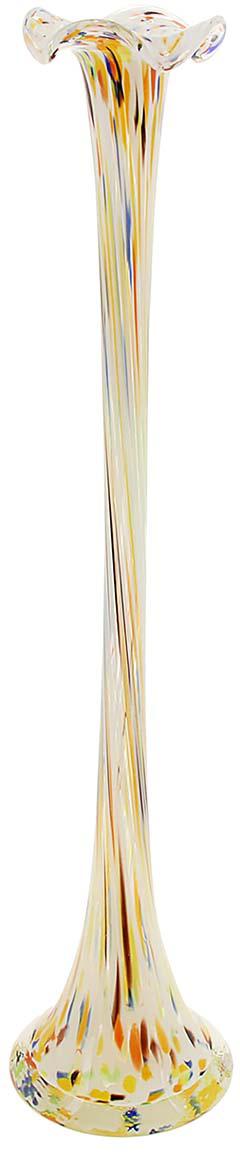 Ваза Сияние, цвет: белый, 51 см1025304Ваза - не просто сосуд для букета, а украшение убранства. Поставьте в неё цветы или декоративные веточки, и эффектный интерьерный акцент готов! Стеклянный аксессуар добавит помещению лёгкости. Ваза Сияние разноцветная преобразит пространство и как самостоятельный элемент декора. Наполните интерьер уютом! Каждая ваза выдувается мастером. Второй точно такой же не встретить. А случайный пузырёк воздуха или застывшая стеклянная капелька на горлышке лишь подчёркивают её уникальность.