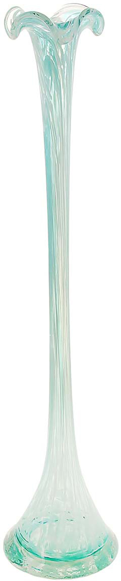 Ваза Сияние, цвет: бирюзовый, 51 см1025305Ваза - не просто сосуд для букета, а украшение убранства. Поставьте в неё цветыили декоративные веточки, и эффектный интерьерный акцент готов! Стеклянныйаксессуар добавит помещению лёгкости. Ваза Сияние преобразит пространство и как самостоятельный элемент декора.Наполните интерьер уютом! Каждая ваза выдувается мастером. Второй точно такой же не встретить. Аслучайный пузырёк воздуха или застывшая стеклянная капелька на горлышке лишьподчёркивают её уникальность.