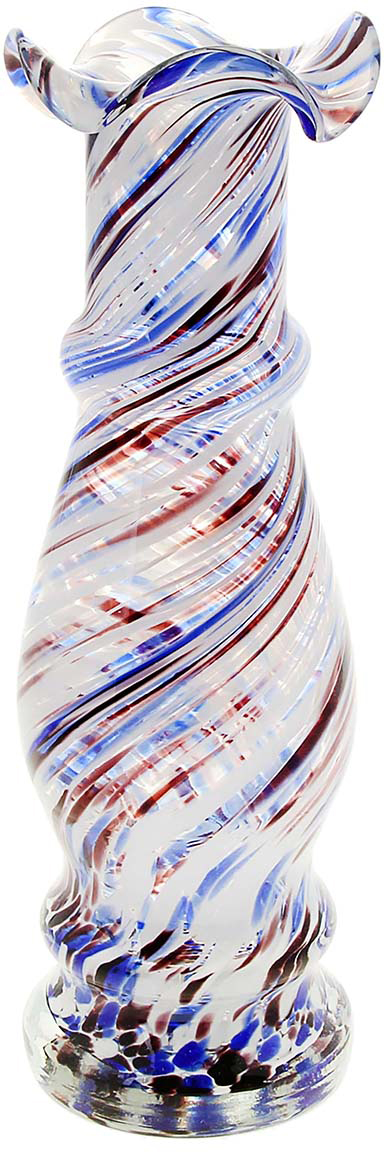 Ваза Интрига, цвет: белый, 25 см1025309Ваза - не просто сосуд для букета, а украшение убранства. Поставьте в неё цветы или декоративные веточки, и эффектный интерьерный акцент готов! Стеклянный аксессуар добавит помещению лёгкости. Ваза Интрига бело-сине-марганцевая преобразит пространство и как самостоятельный элемент декора. Наполните интерьер уютом! Каждая ваза выдувается мастером. Второй точно такой же не встретить. А случайный пузырёк воздуха или застывшая стеклянная капелька на горлышке лишь подчёркивают её уникальность.