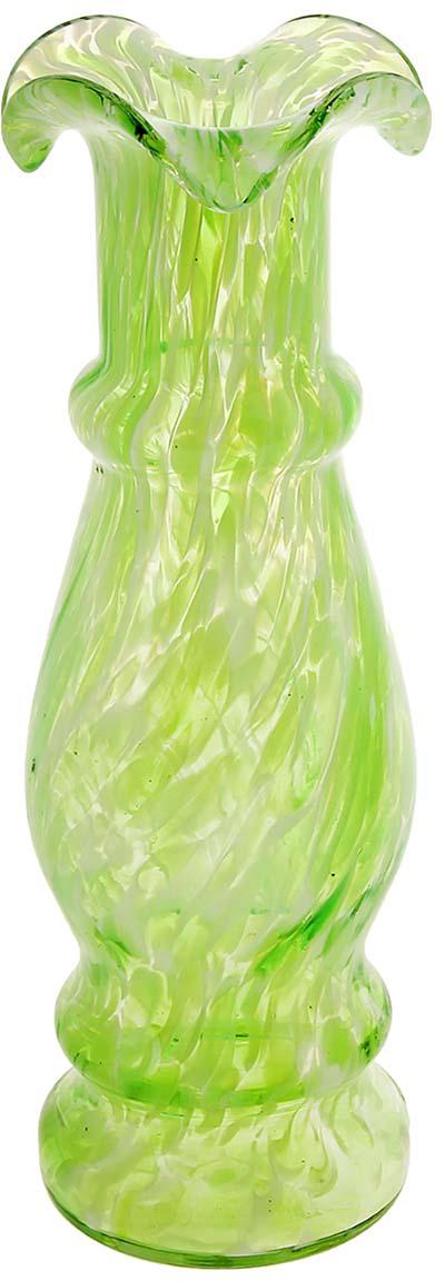 Ваза Интрига, цвет: зеленый, 25 см1025311Ваза - не просто сосуд для букета, а украшение убранства. Поставьте в неё цветы или декоративные веточки, и эффектный интерьерный акцент готов! Стеклянный аксессуар добавит помещению лёгкости. Ваза Интрига зелёная преобразит пространство и как самостоятельный элемент декора. Наполните интерьер уютом! Каждая ваза выдувается мастером. Второй точно такой же не встретить. А случайный пузырёк воздуха или застывшая стеклянная капелька на горлышке лишь подчёркивают её уникальность.
