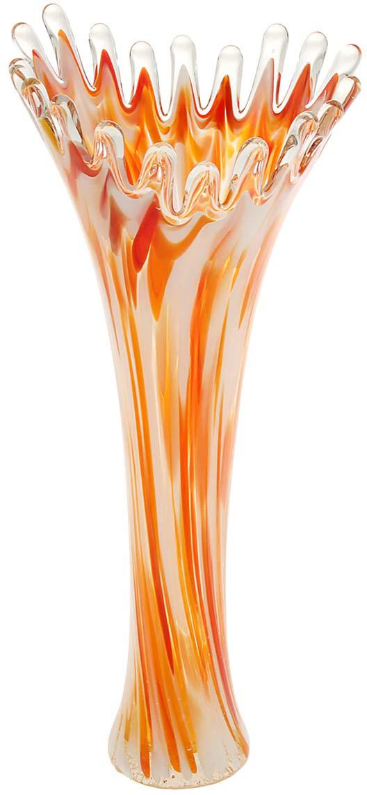 Ваза Коралл, цвет: красный, 38 см. 1025333 ваза прямая цвет красный 51 см 2176628