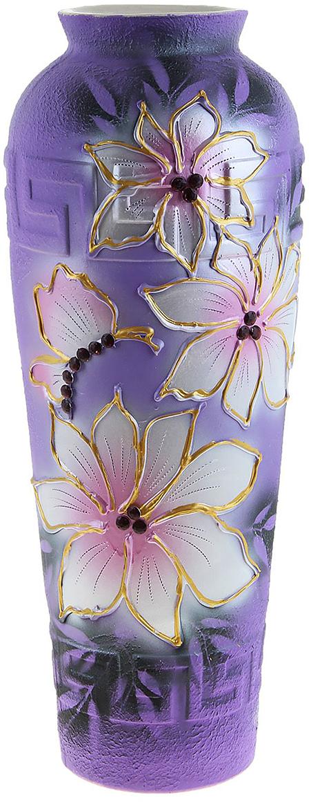 Ваза напольная Керамика ручной работы Арго, цвет: фиолетовый1026094Ваза - сувенир в полном смысле этого слова. И главная его задача - хранить воспоминание о месте, где вы побывали, или о том человеке, который подарил данный предмет. Преподнесите эту вещь своему другу, и она станет достойным украшением его дома. Каждому хозяину периодически приходит мысль обновить свою квартиру, сделать ремонт, перестановку или кардинально поменять внешний вид каждой комнаты. Ваза - привлекательная деталь, которая поможет воплотить вашу интерьерную идею, создать неповторимую атмосферу в вашем доме. Окружите себя приятными мелочами, пусть они радуют глаз и дарят гармонию.