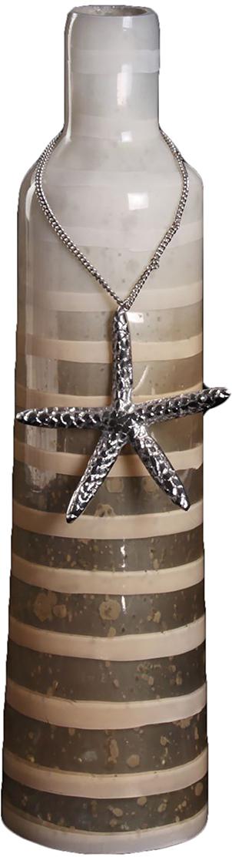 Ваза Морская звезда, цвет: бежевый, 33,5 см