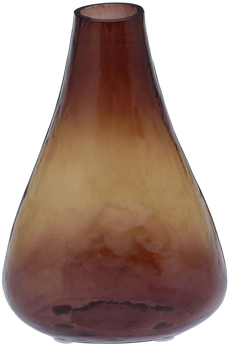 Ваза Сунита, цвет: коричневый, 21 см1044316Удивительной красоты Ваза Сунита создана индийскими мастерами-ремесленниками из высококлассного стекла. Экзотический дизайн, неповторимый декор, изысканный эффект старины - всё это придаёт шик этому прекрасному сосуду под цветы. Преподнесите его ценительнице путешествий, любительнице креативных предметов интерьера и просто личности с хорошим вкусом. Элегантный и в то же время диковинный аксессуар привнесёт нотки изыска и королевской роскоши.