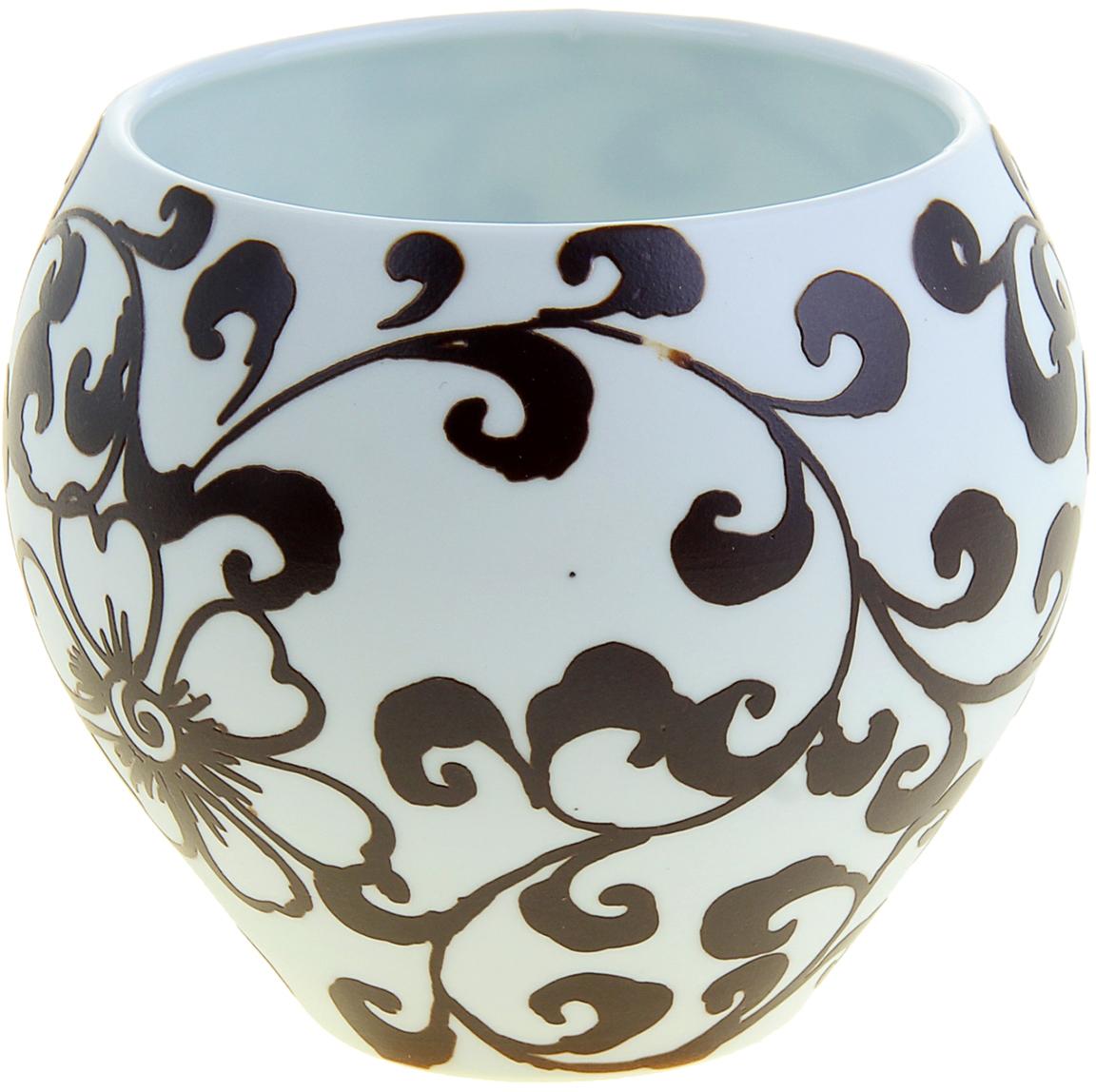 """Ваза """"Узор Флора"""" из высокопрочной керамики. Искусные ремесленники самостоятельно заготавливали смесь, форму, сушили, обжигали, а затем расписывали её особым «природным ажуром». Ваза """"Узор Флора"""" - истинное произведение искусства, которое достойно даже самого трепетного ценителя керамического искусства. Представьте, как изысканно эта красавица будет смотреться в интерьере любой комнаты, привлекая взгляды и улыбки восхищения. Преподнесите её даме на 8 Марта, День рождения или любой другой праздник."""